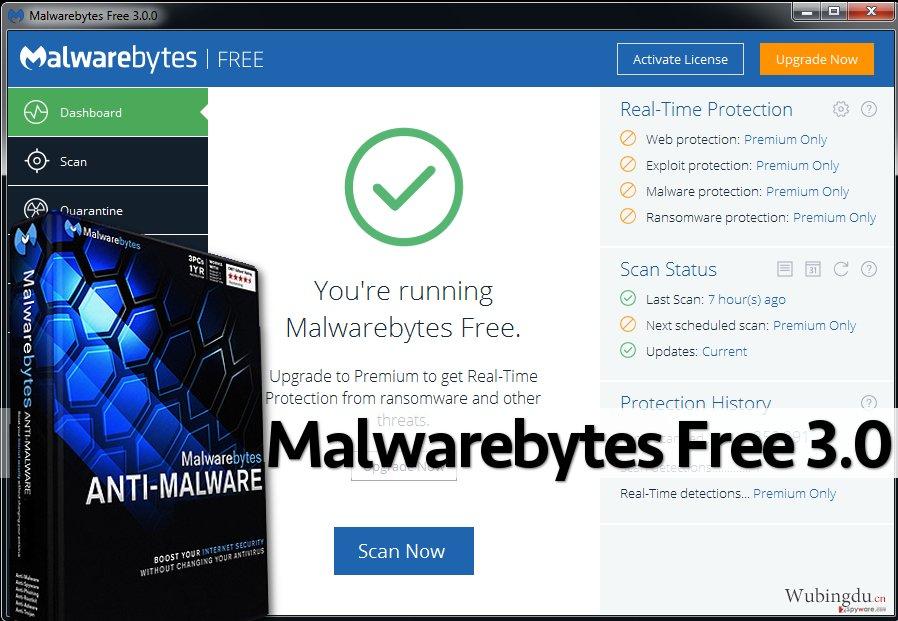 Malwarebytes Free 3.0