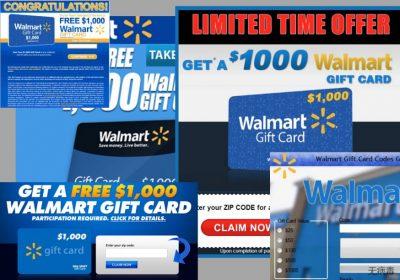 $1000 Walmart Gift Card Winner 广告