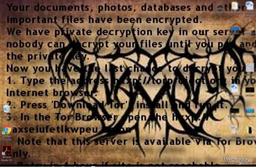 Al-Namrood 勒索软件的勒索字条