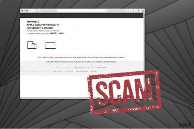 APPLE SECURITY BREACH 诈骗图像