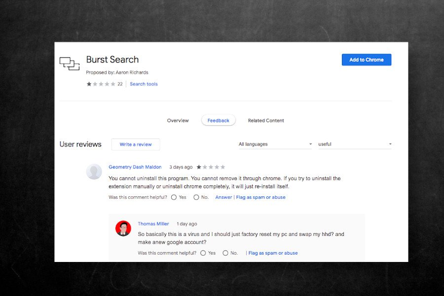 Burst Search 扩展程序