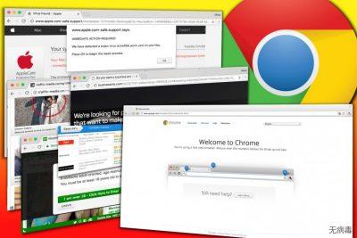 由 Chrome 广告软件显示的广告示例