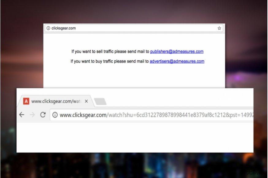 Clicksgear.com 病毒