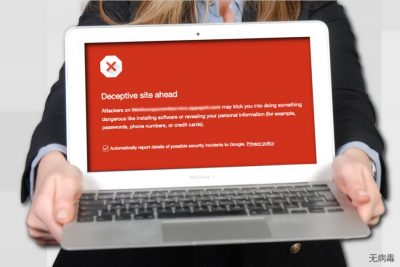 Google 上面的 Deceptive Site Ahead 警告