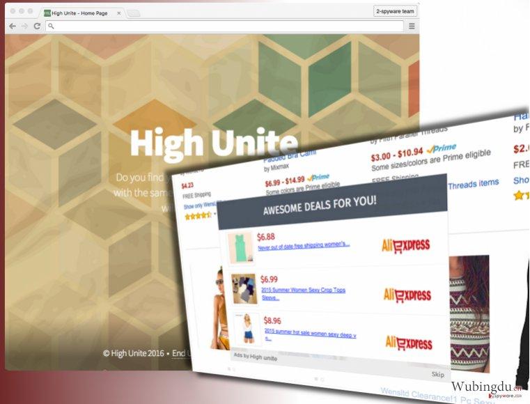 High Unite scam ads