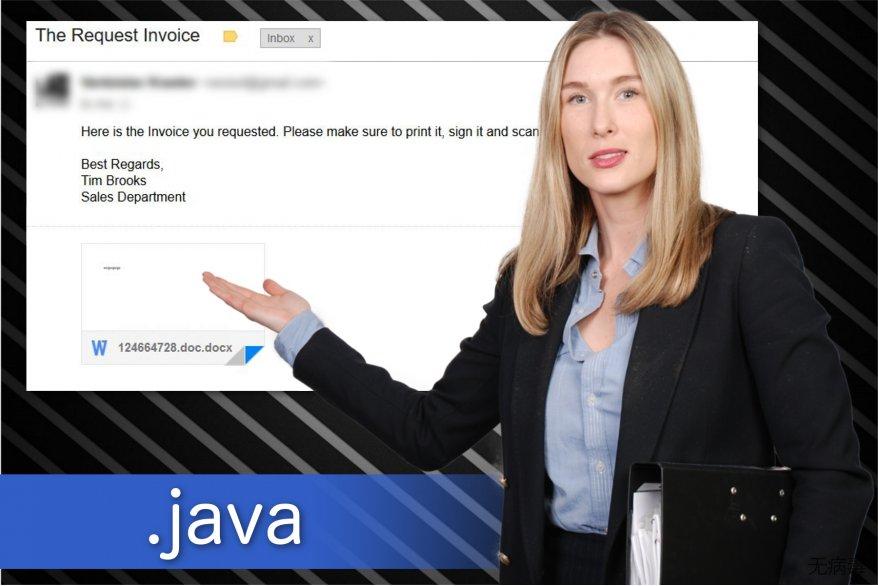 .java 文件扩展勒索软件的图解