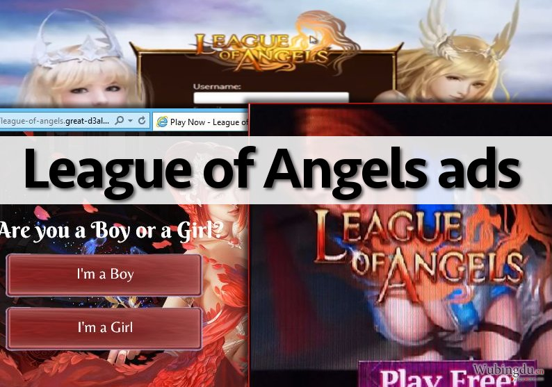 A few examples of League of Angels ads