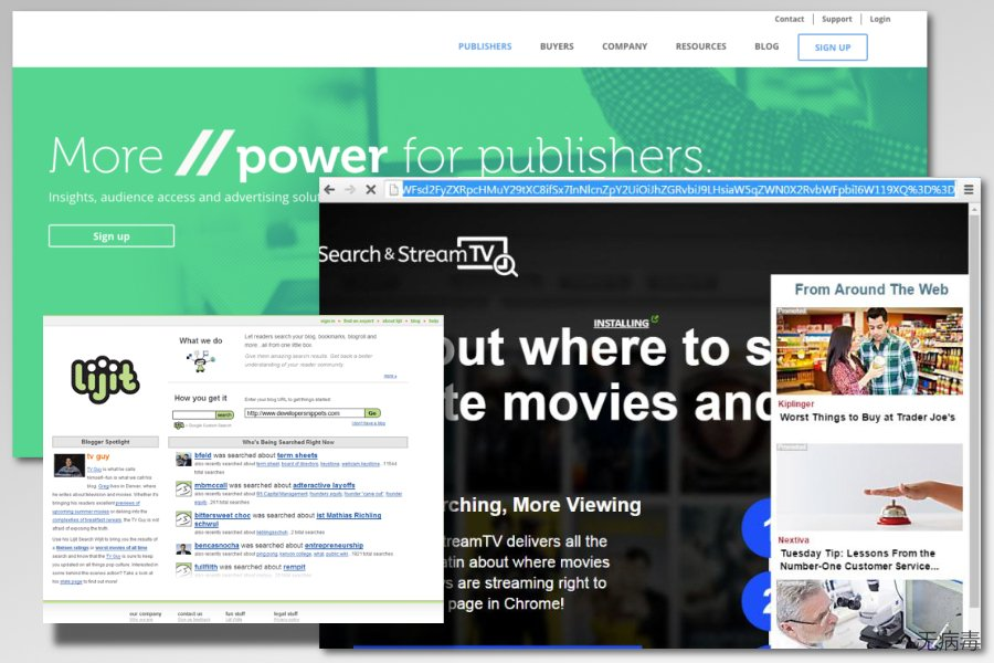 lijit.com 广告软件的示例