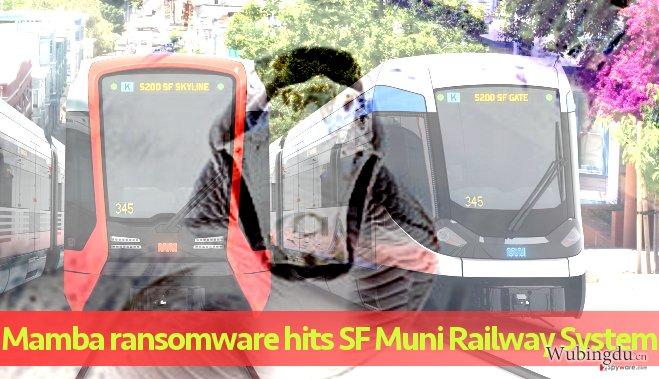 被 Mamba 勒索软件攻击的市政铁路系统