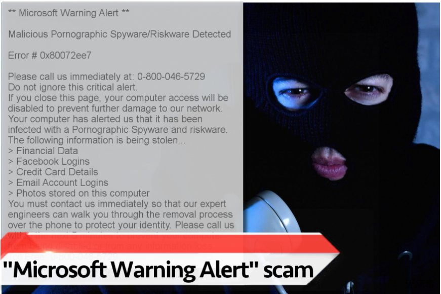 """Microsoft Warning Alert""  病毒"