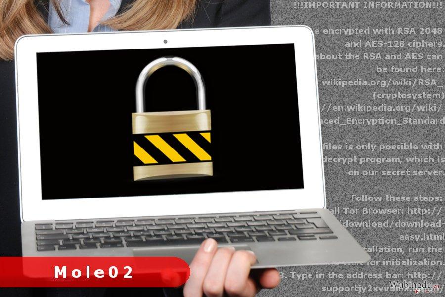 Mole02 勒索病毒的图片·