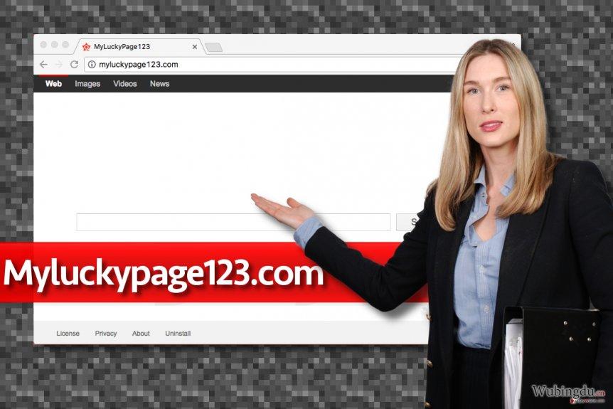 伪造的 Myluckypage123.com 搜索引擎
