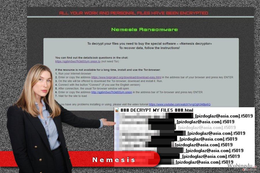 Nemesis 勒索病毒的例子