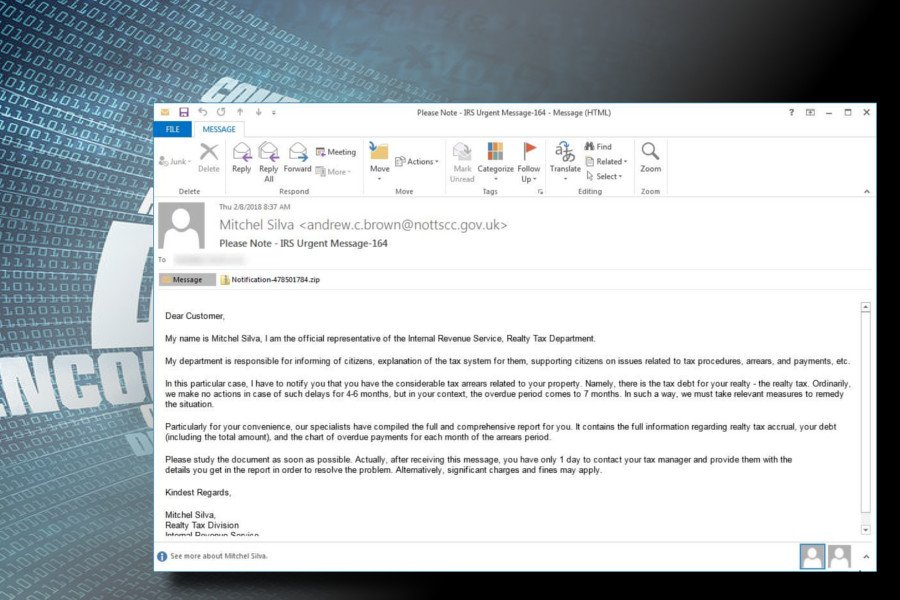 Rapid 勒索软件通过垃圾邮件传播