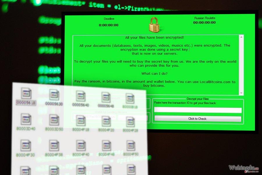 RussianRoulette 勒索软件病毒的图像