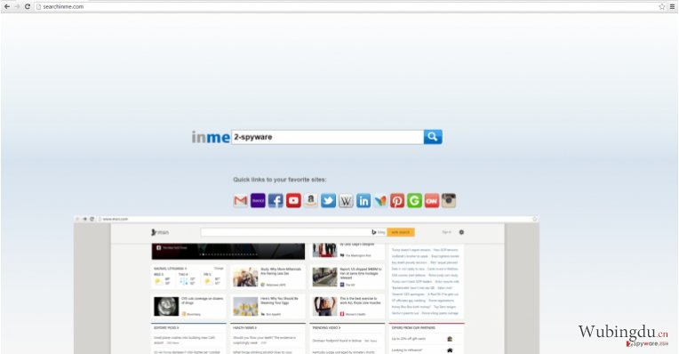 The screenshot of searchinme.com