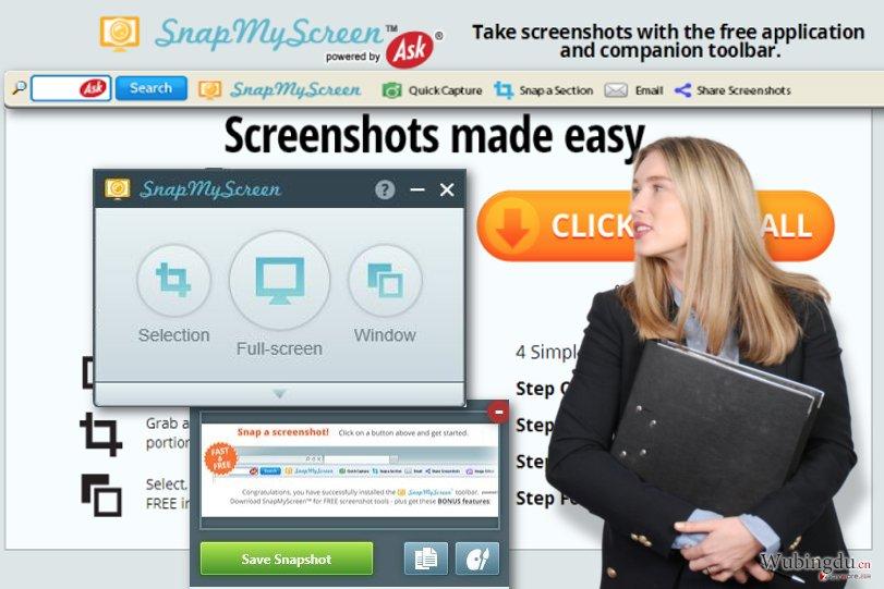 SnapMyScreen 工具栏快照