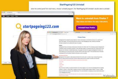 StartPageing123.com 病毒的图解