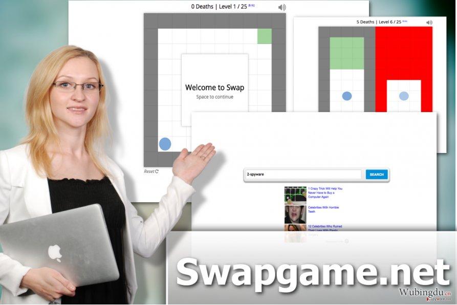 Swapgame.com 劫持者病毒的图解