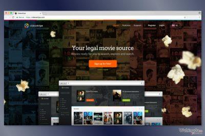 VideoStripe 网站的截图
