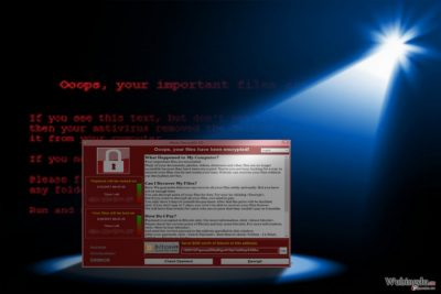 图片显示 WannaCry 3.0 的出现