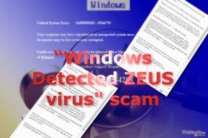 """Windows Detected ZEUS 病毒"""" Tech support scam"""