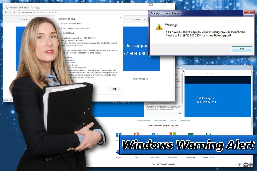 显示 Windows Warning Alert