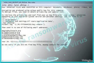 图像显示了 XData 病毒