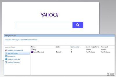 Yahoo Powered 病毒的图像