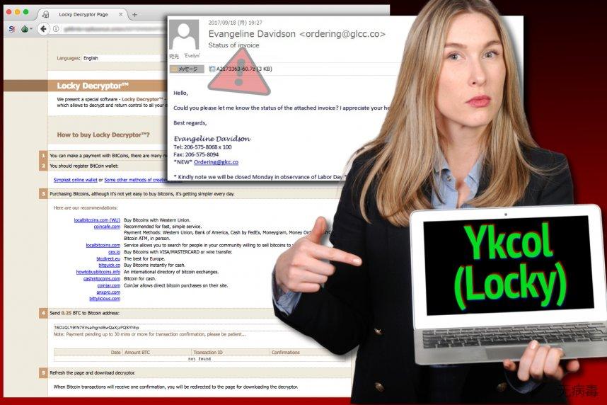 Locky 病毒现在把自己称为 Ykcol