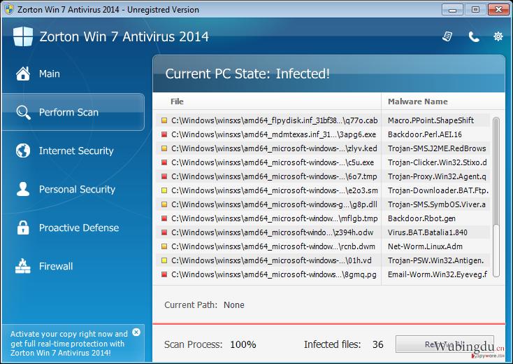 Zorton Win 7 Antivirus 2014